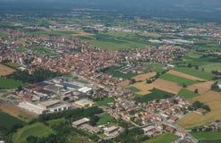 Widok z lotu ptaka San Maurizio Canavese zdjęcie royalty free