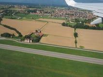 Widok z lotu ptaka San Maurizio Canavese obraz royalty free