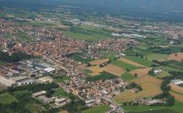Widok z lotu ptaka San Maurizio Canavese zdjęcia stock