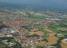 Widok z lotu ptaka San Maurizio Canavese obrazy stock