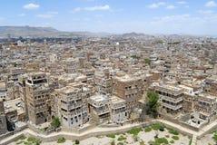 Widok z lotu ptaka Sanaa miasto, Sanaa, Jemen Zdjęcie Stock