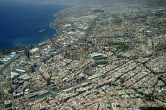 Widok z lotu ptaka, Santa Cruz de Tenerife, Kanarek Jest. Zdjęcia Royalty Free