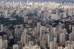 Widok z lotu ptaka Sao Paulo miasto - Brazylia Obrazy Stock