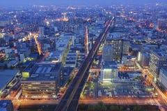 Widok z lotu ptaka Sapporo śródmieście fotografia royalty free
