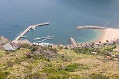 Widok z lotu ptaka schronienie Canical przy madery wyspą zdjęcie royalty free