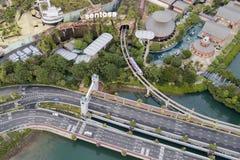 Widok z lotu ptaka Sentosa wyspy brama Obrazy Royalty Free