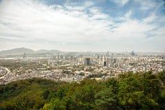 Widok z lotu ptaka Seul, Południowy Korea Zdjęcie Stock