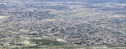 Widok z lotu ptaka sierra Vista, Arizona, od Carr jaru zdjęcie stock