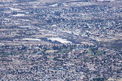 Widok z lotu ptaka sierra Vista, Arizona, od Carr jaru zdjęcia royalty free