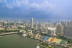 Widok z lotu ptaka Singapur zdjęcia stock