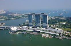 Widok z lotu ptaka Singapur obrazy stock