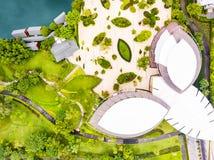 Widok z lotu ptaka Sireeruckhachati natury uczenie park Obraz Stock