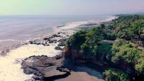 Widok z lotu ptaka skalista plaża, Indonezja zbiory