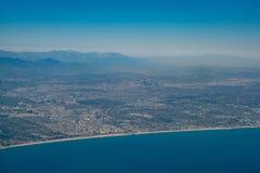 Widok z lotu ptaka Snata Monica śródmieście i teren fotografia royalty free