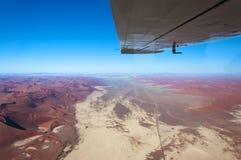 Widok z lotu ptaka Sossusvlei w Namibia, Afryka Obraz Stock