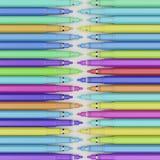 Widok Z Lotu Ptaka Sprzężone odsadzek linie Różnie Barwioni Finepoint Machinalni Rysunkowi pióra Obrazy Royalty Free
