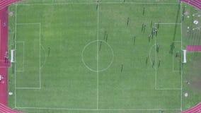 Widok z lotu ptaka stadium podczas dopasowania zbiory wideo