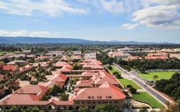 Widok z lotu ptaka Stanford Universtity kampus Obrazy Stock