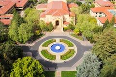 Widok z lotu ptaka Stanford Universtity kampus Zdjęcie Royalty Free