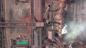 widok z lotu ptaka stara fabryka zdjęcie wideo