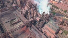 widok z lotu ptaka stara fabryka zbiory wideo