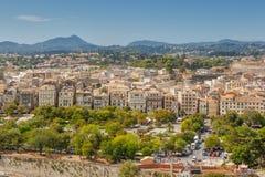 Widok z lotu ptaka stare miasto ulicy, budynki i Zdjęcie Royalty Free