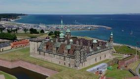 Widok z lotu ptaka stary grodowy Kronborg, Dani zdjęcie wideo