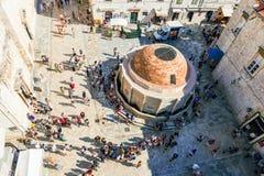 Widok z lotu ptaka stary grodzki Dubrovnik fotografia stock