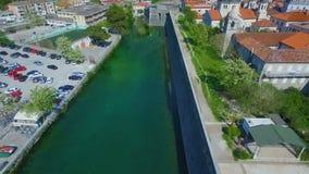 Widok z lotu ptaka stary miasteczko Kotor zdjęcie wideo