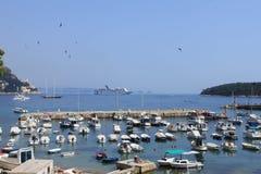Widok z lotu ptaka stary miasto Dubrovnik w pięknym letnim dniu, Chorwacja Zdjęcie Stock