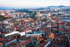 Widok z lotu ptaka stary Porto śródmieście - Portugalia Podróż obraz royalty free