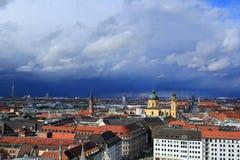 Widok z lotu ptaka Stary urząd miasta w Monachium, Bavaria, Niemcy obrazy royalty free