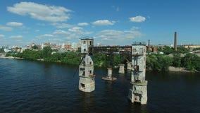 Widok z lotu ptaka stary zaniechany budynek zbiory wideo