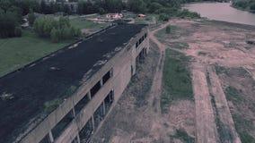 Widok z lotu ptaka stary zniszczony budynek zbiory wideo