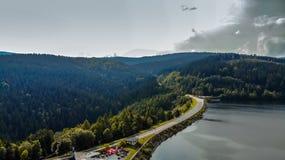 Widok z lotu ptaka Stausee Soboth zdjęcia stock
