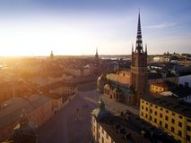 Widok z lotu ptaka Sztokholm miasto Fotografia Stock