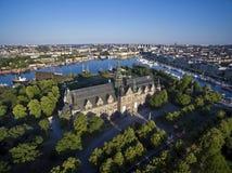 Widok z lotu ptaka Sztokholm miasto Obrazy Stock