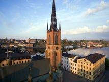 Widok z lotu ptaka Sztokholm miasto obraz stock