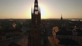Widok z lotu ptaka Sztokholm miasto zbiory