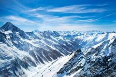 Widok z lotu ptaka Szwajcarscy Alps Zdjęcie Stock