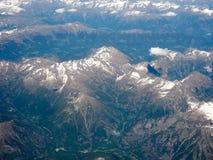 Widok z lotu ptaka Szwajcarscy Alps Obraz Royalty Free