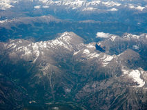 Widok z lotu ptaka Szwajcarscy Alps Zdjęcia Royalty Free