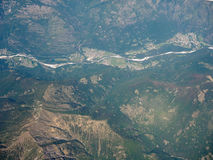 Widok z lotu ptaka Szwajcarscy Alps Obrazy Royalty Free