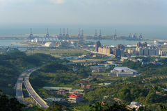 Widok z lotu ptaka Taipei miasto obraz royalty free