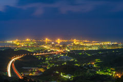 Widok z lotu ptaka Taipei miasto zdjęcia royalty free