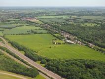 Widok z lotu ptaka Takeley Zdjęcia Royalty Free