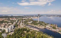 Widok z lotu ptaka Tampere Obrazy Stock