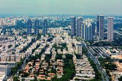 Widok z lotu ptaka Tel Aviv, Izrael Zdjęcia Stock
