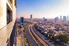 Widok z lotu ptaka Tel Aviv, Izrael zdjęcia royalty free