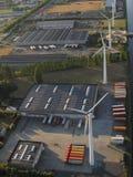 Widok z lotu ptaka teren przemysłowy w Belgia Zdjęcie Stock